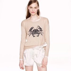 ⭐️J. Crew🌟 Crab Embroidered Oversized Sweater Top